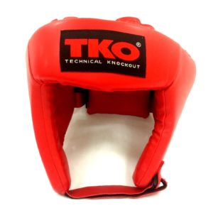 TKO Boxing Head Guard Protector Youth Red