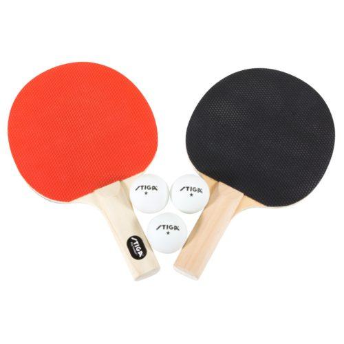 Stiga Classic 2 Player Racket and 3 balls Table Tennis Set