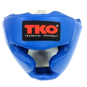 TKO Boxing Head Guard Adult Blue
