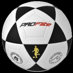 Proflite FBL Soccer Ball Size 5 Black White