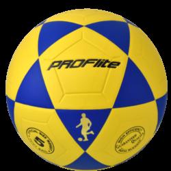 Proflite FBL Soccer Ball Size 5 Yellow Blue