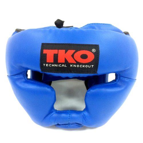 TKO Boxing Head Guard Protector Adult Blue