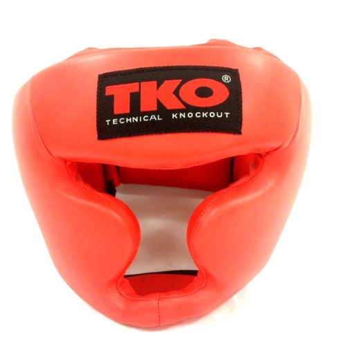 TKO Boxing Head Guard Adult Red