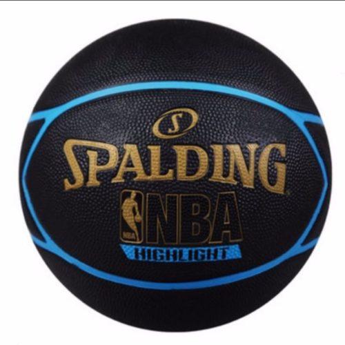 "Spalding Highlight Blue premium rubber basketball size 29.5"""