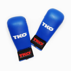 TKO Karate Mitts Gloves Without Thumb Blue Size L