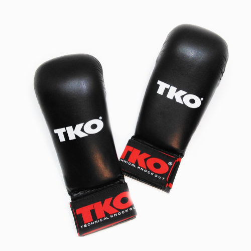 TKO Karate Mitts Gloves Without Thumb Black Size L