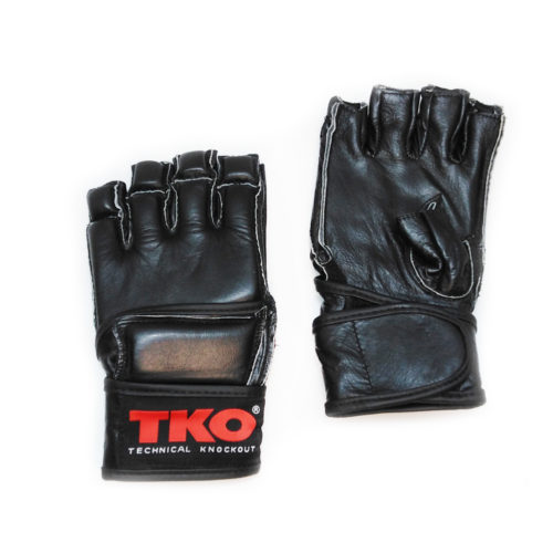 TKO Boxing Gloves MMA Punching Mitts Black Size L