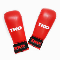 TKO Karate Mitts Gloves Without Thumb Red Size L