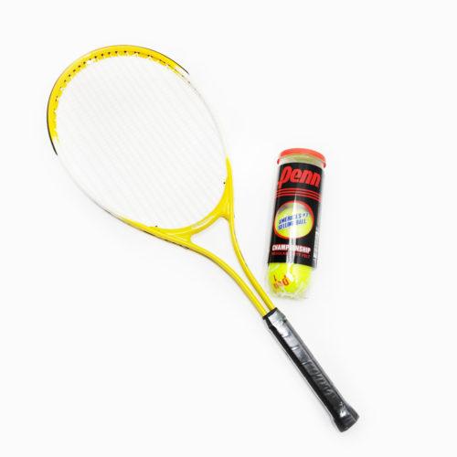 "Weston Children's Tennis Racket 27"" Age 9-12 With Regular Duty Tennis Balls 1 Cans"