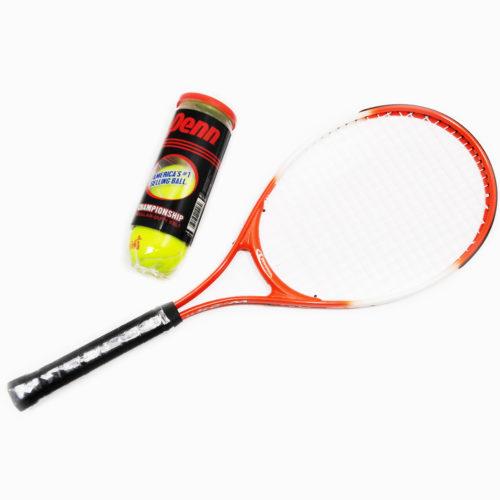 "Weston Children's Tennis Racket 25"" Age 8-9 With Regular Duty Tennis Balls 1 Cans"