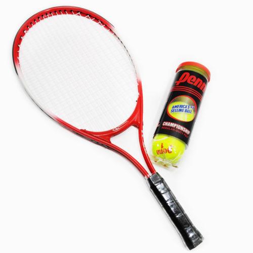 "Weston Children's Tennis Racket 23"" Age 7-8 With Regular Duty Tennis Balls 1 Cans"
