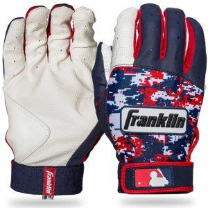 Franklin Digi Camo Batting Gloves Youth White Navy Red
