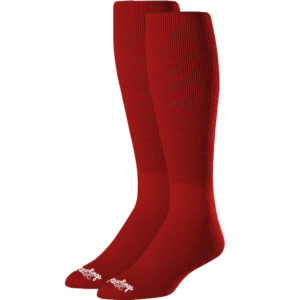 Rawlings SOCL-RED Baseball Socks Youth Scarlet Red