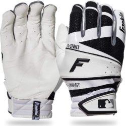 Franklin Sports Freeflex Pro Series Batting Gloves White/Black Adult