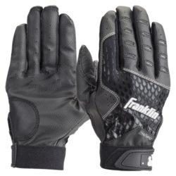 Franklin 2nd Skinz Batting Gloves Adult Pair Black/Black