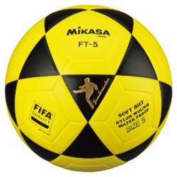 Mikasa FT5 Goal Master FIFA Soccer Ball Size 5 Official FootVolley Ball FT-5 Black-Yellow