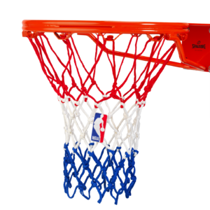 Spalding heavy duty basketball net red white blue