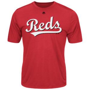 Majestic Men's Cool Base Evolution Shirt Cincinnati Reds Adult Medium