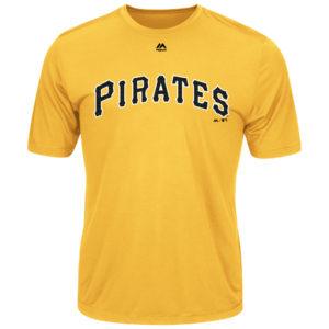 Majestic MLB Pirates Adult Evolution Tee T-Shirt Size Medium