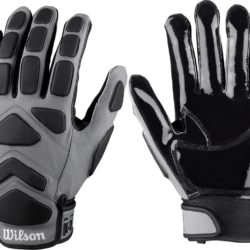 Wilson New MVP Linemen Football Gloves Junior Small Pair