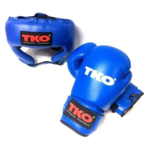 TKO Boxing Head Guard Pro Training Gloves Leather kit
