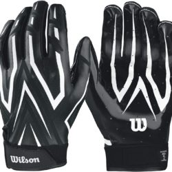 Wilson The Clutch Skill Football Receiver Glove Adult Black Pair