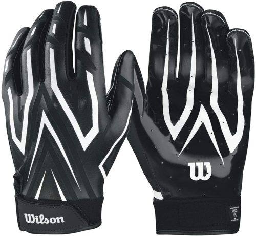 Wilson The Clutch Skill Football Receiver Glove Adult Black Pair