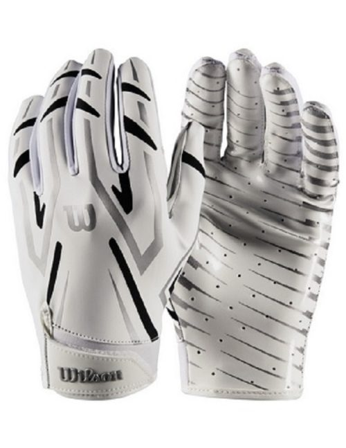 Wilson The Clutch Skill Receiver Football Glove Youth White Pair