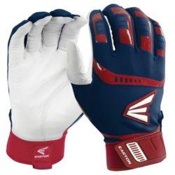Easton Adult Batting Gloves Walk-Off Royal/Red