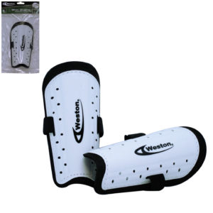 "Weston Youth Shin Guard Soccer 7"" White Pair"