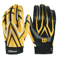 Wilson The Clutch Skill Football Receiver Glove Youth Yellow Pair