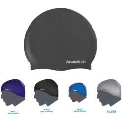 Aquatek Silicone Adult Swim Cap Assorted Colored