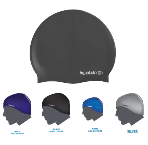 Aquatek Silicone Adult Swim Cap Assorted Colored
