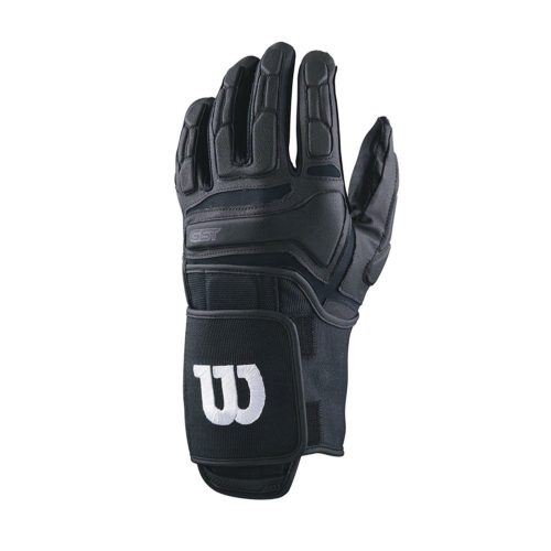 Wilson GST Trench Football Gloves Black Pair