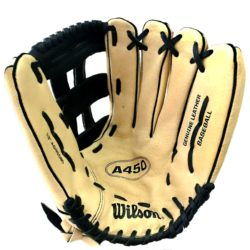 Wilson A450 Genuine Leather Baseball Glove Adult 13 Inches RHT
