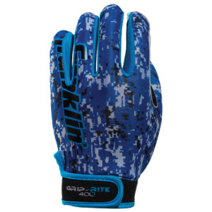 Franklin Football Field Master Receiver Gloves Tacky Palm Adult Size Blue S/M Pair