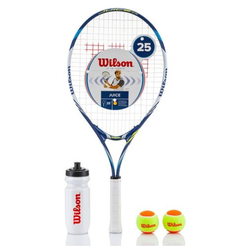 Wilson Juice Junior Tennis Racket Starter Set 25 - 3 7/8 Inches Blue