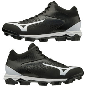 Mizuno Select 9 Mid Men's Molded Baseball Black-White