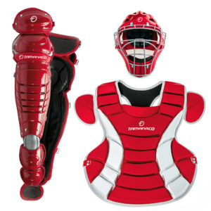 Tamanaco Baseball/Softball Catchers Gear Adult Set Scarlet