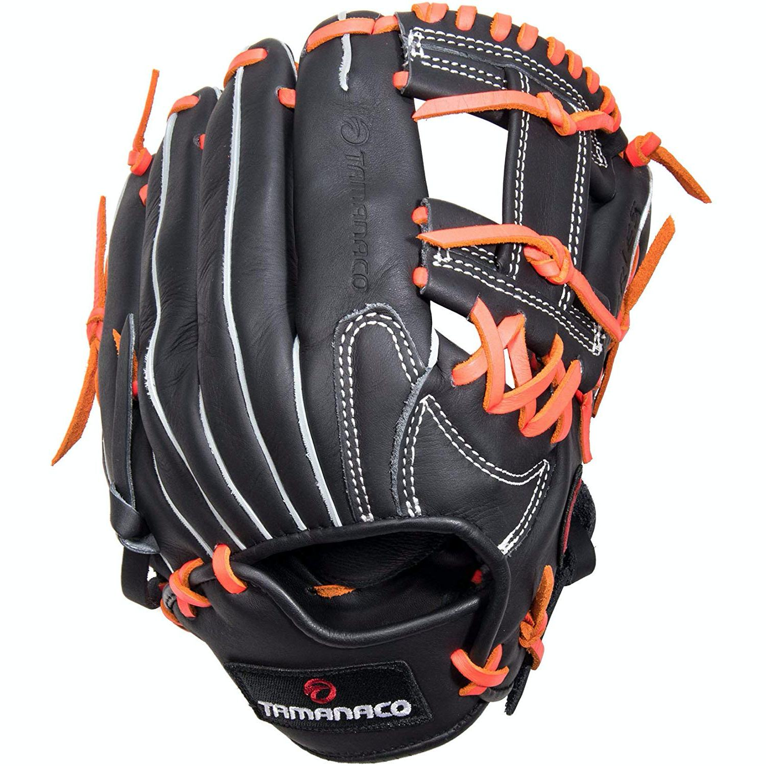 """Details about  /Tamanaco ST-Series Natural Leather Infield//Pitcher Glove 11.75/"""" Black//Royal RHT"""