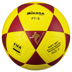 Mikasa FT5 Goal Master FIFA Soccer Ball Size 5 Official FootVolley Ball FT-5 Red-Yellow