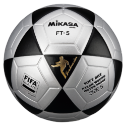 Mikasa FT5 Goal Master FIFA Soccer Ball Size 5 Official FootVolley Ball FT-5 Black-Grey