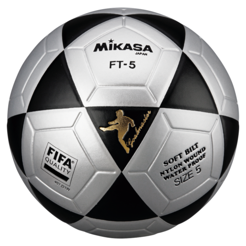 Mikasa FT5 Goal Master FIFA Soccer Ball Size 5 Official FootVolley Ball FT-5 Black-Grey