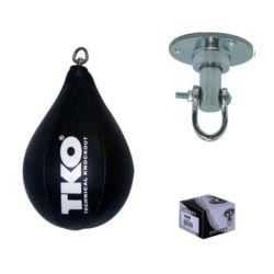 TKO Leather Boxing Speed Bag Punching Ball with Swivel Training