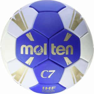 Molten H1C3500-BW Game Handball Ball Blue/White/Gold Size 1