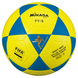 Mikasa FT5 Goal Master Soccer Ball Size 5 Official FootVolley Ball Blue-Yellow
