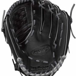 "Wilson A360 Youth Baseball Gloves 12.5"" Black Gold RHT"