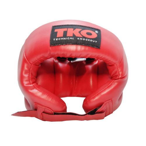 TKO Boxing Head Guard Protector Adult Red