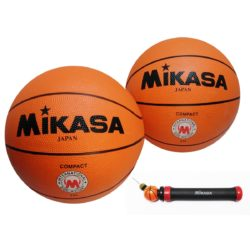 "Mikasa 620 Basketball Size 28.5"" With Manual Pump - 2 Pack"