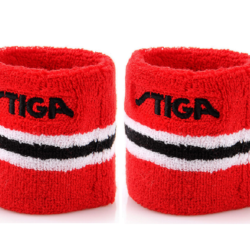 Stiga Table Tennis Ping pong Wristband One Size Red -Sold by Pair